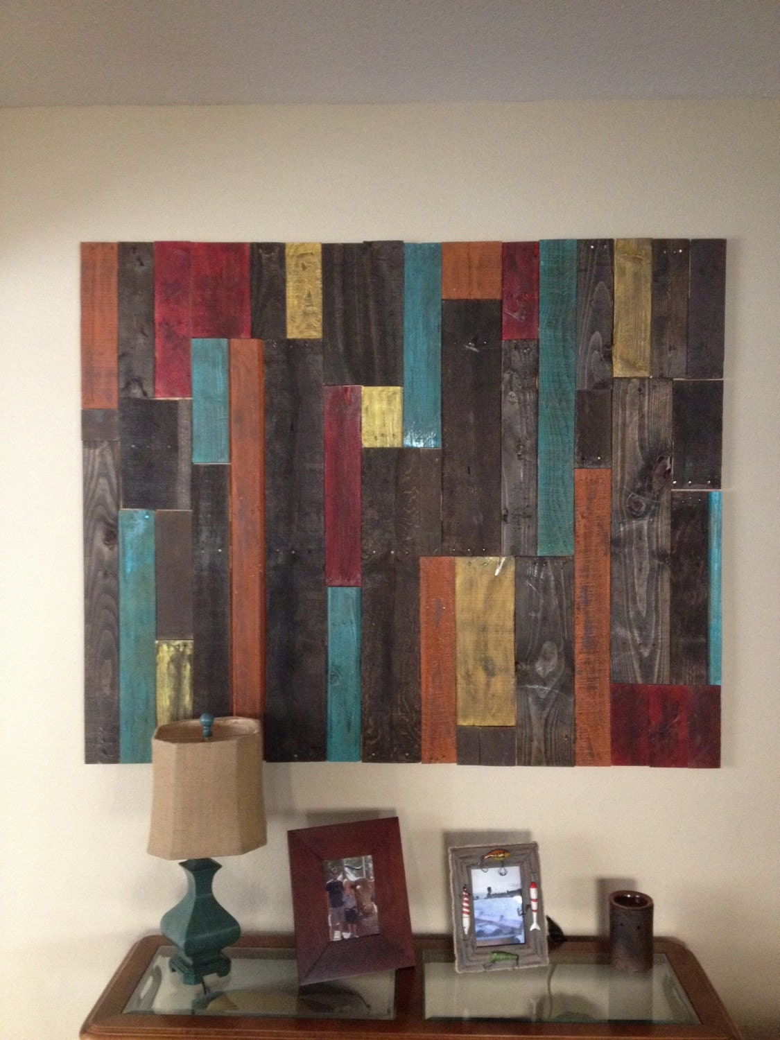 Distressed Pallet Wall Art Decor
