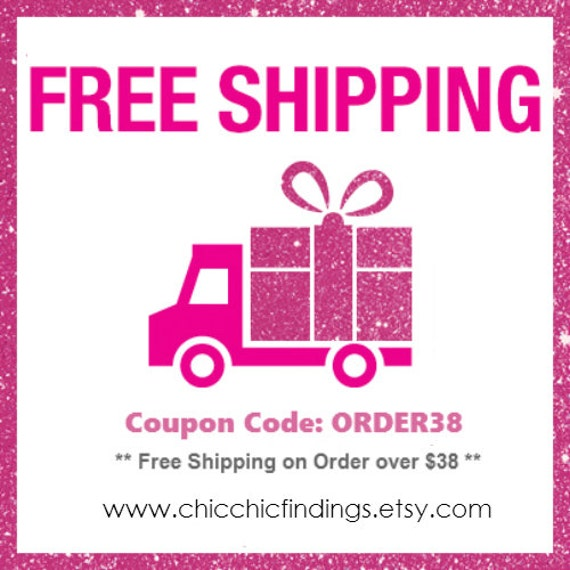 free shipping coupon code order38 by chicchicfindings on etsy