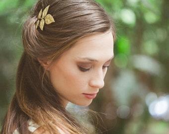 Grecian Leaf Hair Pin Gold Leaf Bobby Pin Leaf Hair Clip Greek Goddess Bridesmaids Bridal Hair Accessories Womens Gift For Her Autumn Fall