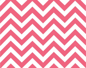 Hibiscus and white chevron craft  vinyl sheet - HTV or Adhesive Vinyl -  large zig zag pattern HTV191