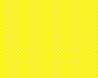 Yellow with white mini stars craft  vinyl sheet - HTV or Adhesive Vinyl -  star pattern HTV2400