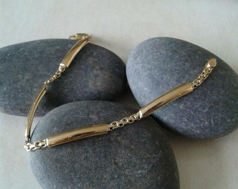 Plate 18K Solid Gold Bracelet