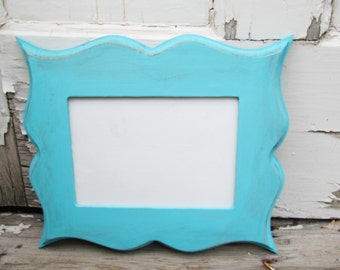 Whimsical Picture Frame - Distressed Picture Frame - Shabby Chic Picture Frame