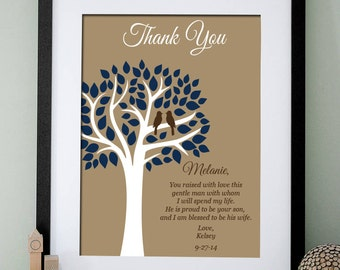Wedding Thank You Gift for Mother in Law - Mother in Law Wedding Gift - Personalized Sign - Wedding Sign