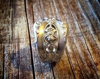 1934 Rose Point Sterling Spoon Ring