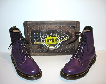 Uk 4~Purple Leather 1460 Doc Martens -Made in England -- size 4 UK = size 5 US Mens = size 6.5 to 7 US Women