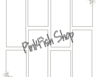 """12"""" x 12"""" Digital Photo Booth Guest Book Pages in White"""