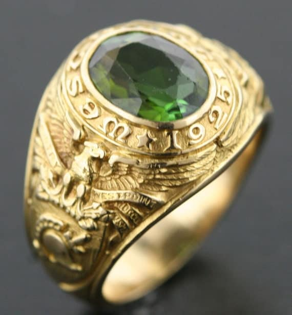 Tiffany Amp Co West Point Class Ring Dated 1925 In 18k Yellow