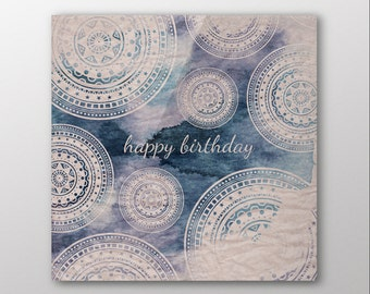 Mandala Ink Birthday Card