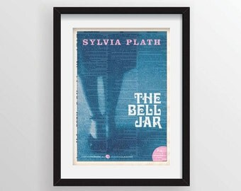 The Bell Jar by Sylvia Plath - Cover Art on Recycled Dictionary Page