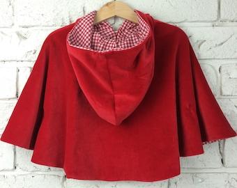 Little Red Velvet Cape