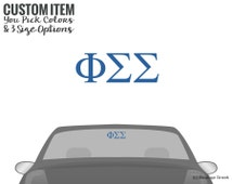PhiSig Phi Sigma Sigma Classic Letters Car Laptop Dorm Window Vinyl Sorority Decal Sticker