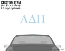 ADPi Alpha Delta Pi Classic Letters Car Laptop Dorm Window Vinyl Sorority Decal Sticker