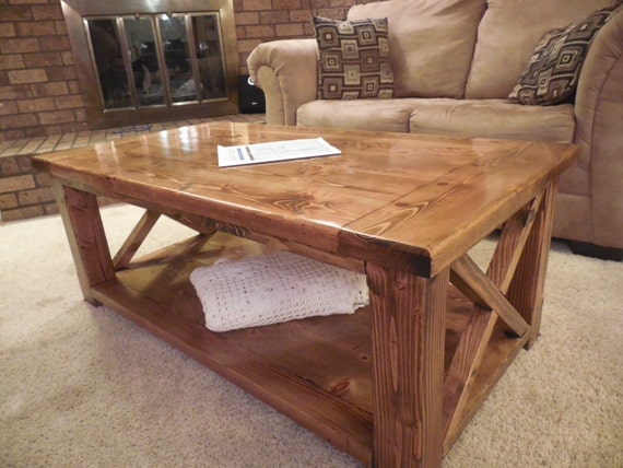 Rustic X Coffee Table By CancerKiller On Etsy