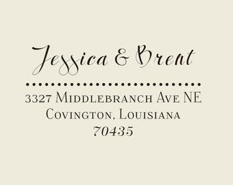 CUSTOM wedding address stamp, Custom family address Stamp -return address-custom rubber stamps
