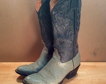 1980's Two Tone Western Cowboy Boots size 9 D