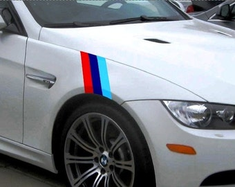 5 Series - BMW M Style Fender Stripe Hash Mark Racing Stripe Rally Decal Kit