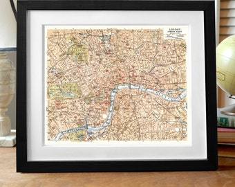 London Map Print,  London Print, England Print, London England Map Print, London Art