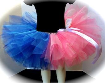 Pink and Blue Tutu, Aurora Children Tutu, Princess Tutu, Baby Gender Reveal Tutu