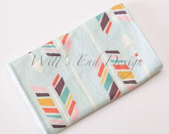 Modern Gender Neutral Burp Cloth Mix & Match-Super Absorbent Cotton Chenille-Large Rainbow Arrows