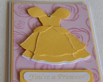 Beauty and the Beast's Belle Birthday Card