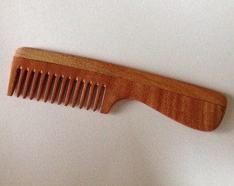 Aromatic Neem Wood Beard Comb Wide Tooth Organic Anti Static Massage UB's Beard Basics