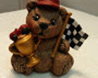 Small Race Car Drive Bear