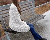 Estonian lace shawl with nupps, from wool+silk+cashmere blend yarn