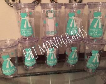 16oz Personalized Wedding Tumbler-mint