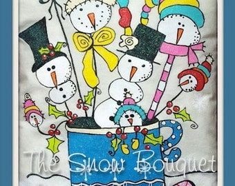 The Snow Bouquet - by Cheryl Nuccio, Painting With Friends E Pattern