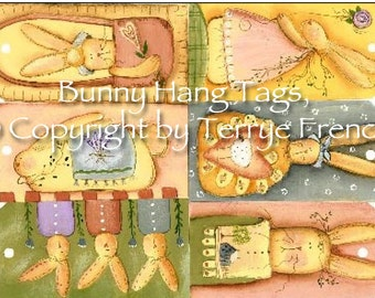 Bunny Hang Tags by Terrye French, E-Pattern