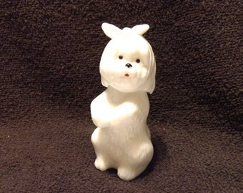 Vintage Avon White Dog Cologne Bottle