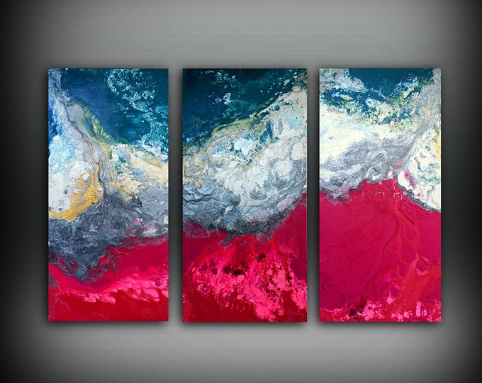Magenta Painting 48 x 72 Acrylic Painting Canvas Art Abstract Painting Contemporary Art Huge Painting Extra Large Wall Art Hot Pink Painting