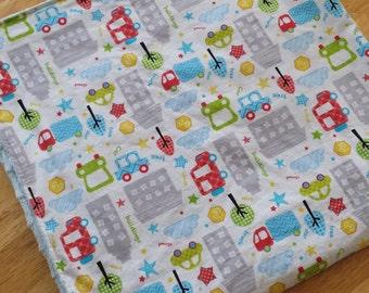 Beep Beep Cars and Trucks Baby Blanket, Baby Shower Gift, newborn, homemade