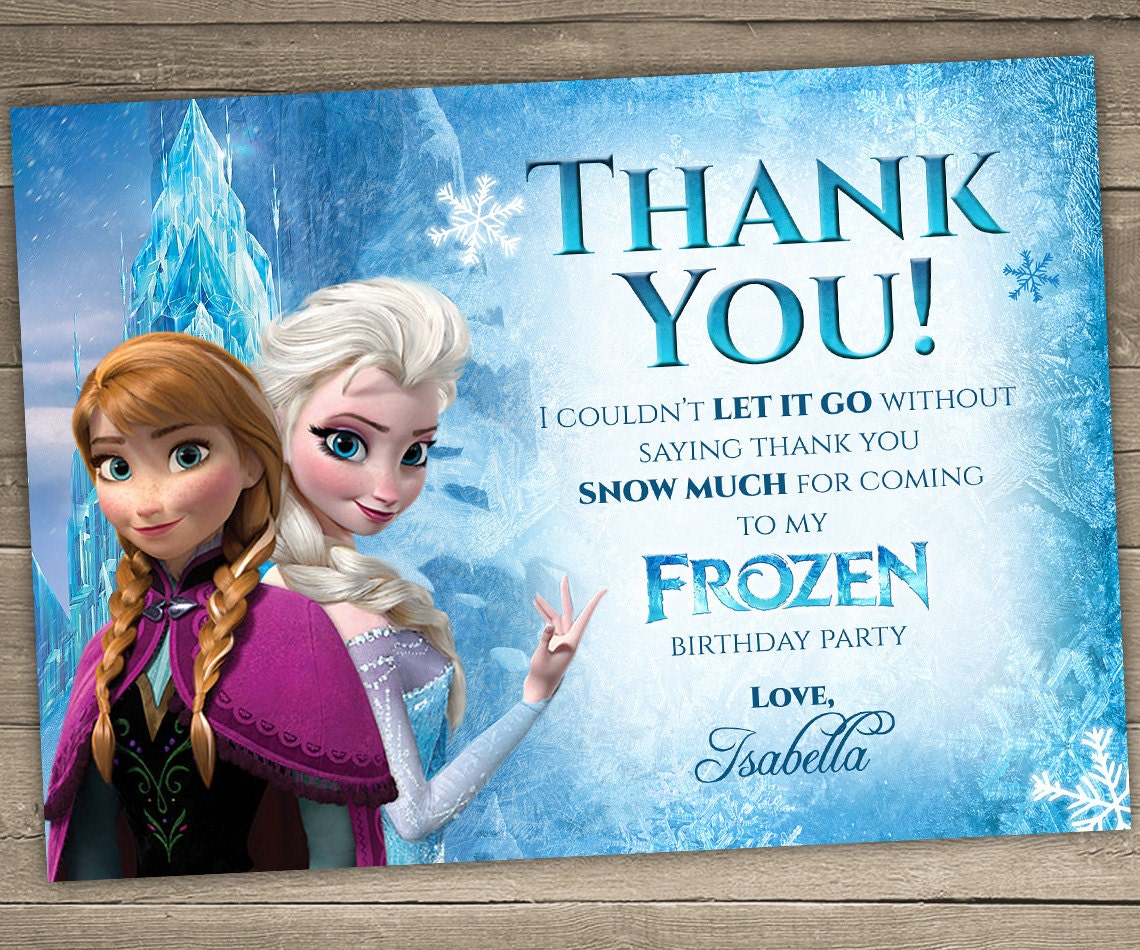It's just a photo of Wild Printable Frozen Birthday Card