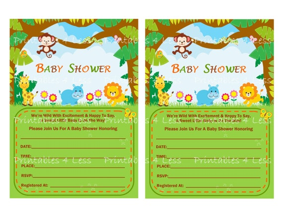 safari shower invite diy jungle baby shower invitation diy safari