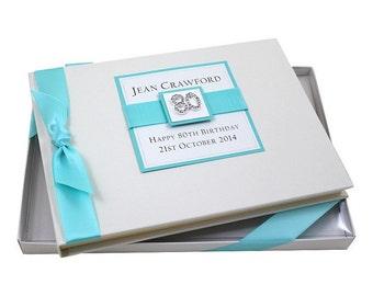 80th Birthday Guest Book - Square Design
