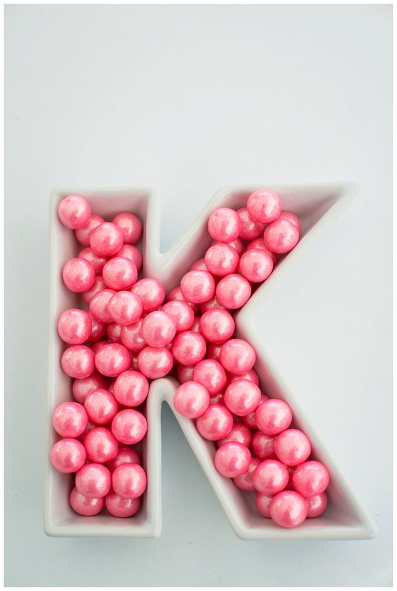 Ceramic Letter Candy Dishes Your Choice of Letter by HooplaEvents