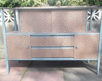 SOLD****Mid Century Two Tiered Beautility Sideboard/Drinks Cabinet