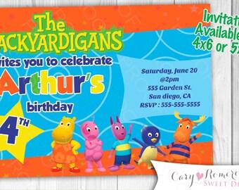 Backyardigans- Digital Printable Invitation