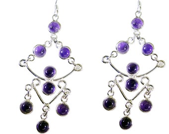 Silver Earring, Amethyst Earring, Purple  Earring, 925 sterling silver Earring, gold earrings, SEAME-2084