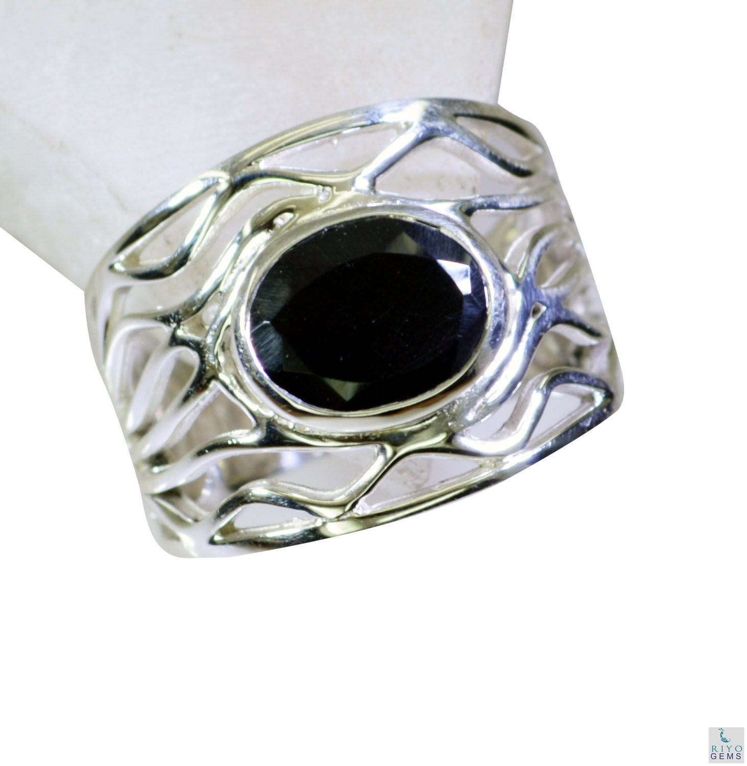 black onyx silver jewelry silver promise ring sz 8