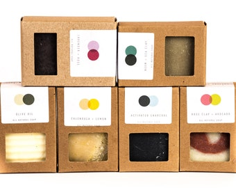 Soap Set - Choose Any Three - All Natural. Vegan and Palm Free Options Available