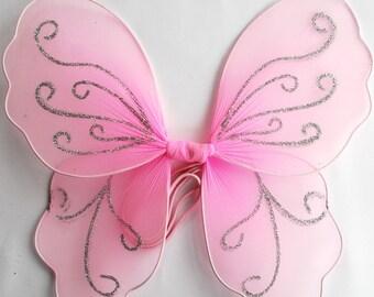 Pink Butterfly Wings/ White Butterfly Wings