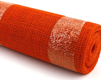 "Orange 19.7"" by 10 yard burlap roll for long banquet tables. Perfect for wedding events, burlap aisle runner. Other Colors AVAIL. (BRH19-21)"