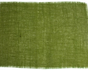 """Apple Green Burlap Placemats 13""""x17"""" (Pack of 6) fringe, fine weave, rustic country weddings, home decor.Available in other colors (BF-P60)"""