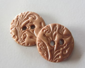 Lacy Swirl Buttons ~ Set of 2