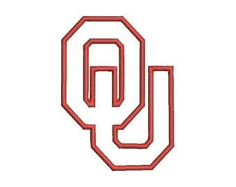 OU Oklahoma Applique Embroidery Design