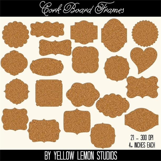 Eyeglasses Frame Boards : Cork board pin frames CORK BOARD FRAMES circle