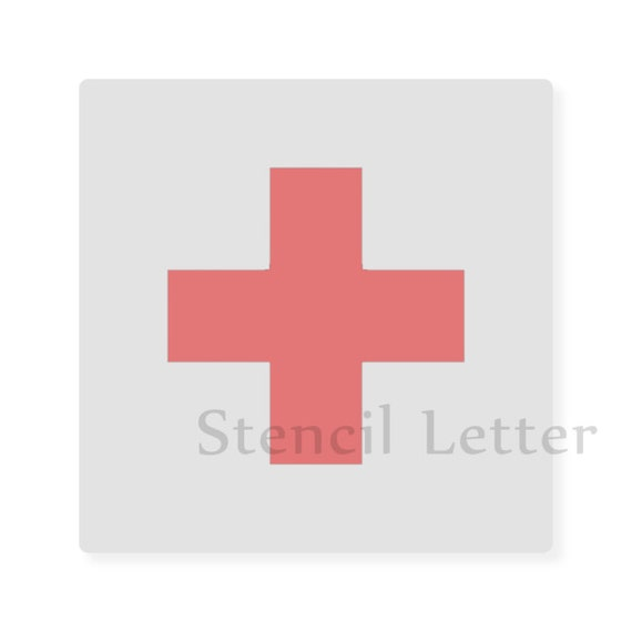 Medical Red Cross Style 2098 Diy Stencil Clear By